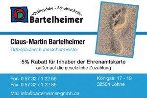 Bartelheimer Orthopädie Schuhtechnik - Bartelheimer Orthopädie Schuhtechnik - Visitenkarte